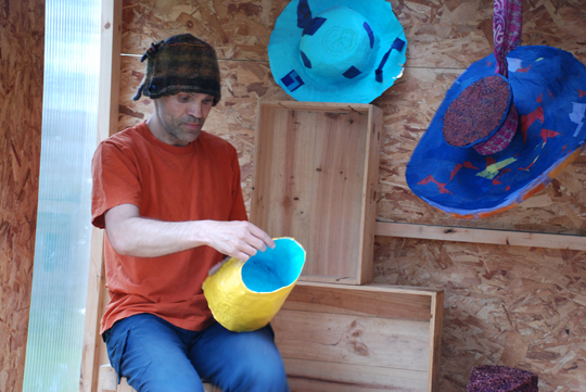 preparing hats